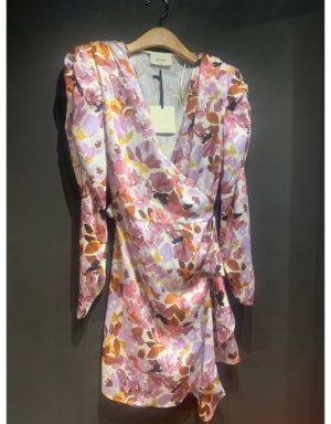 Vestit mini floral màniga llarga de la marca VICOLO