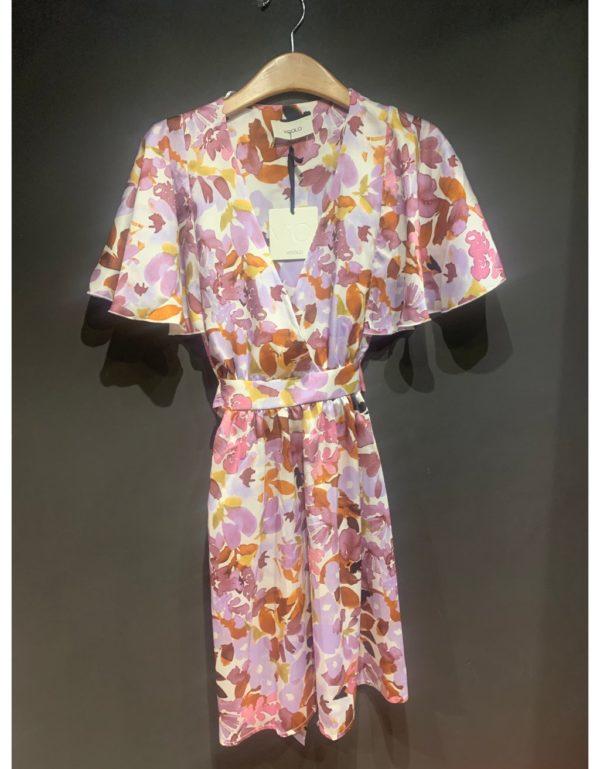 Vestit mini de flors màniga curta de la marca VICOLO