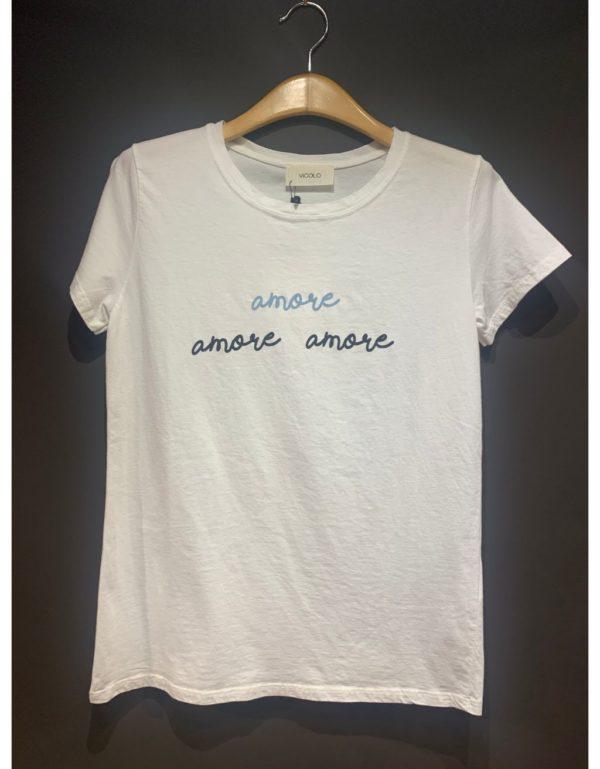 """Samarreta amb """"Amore Amore"""" estampat. Disponible en blanc"""