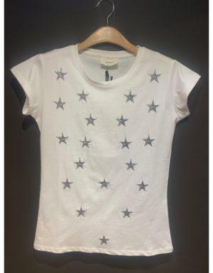 Samarreta amb estrelles platejades brodades de la marca VICOLO