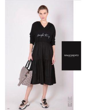 Vestit negre midi de la marca Rinascimento